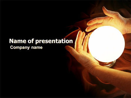 Religious/Spiritual: Glowing Sphere PowerPoint Template #05703