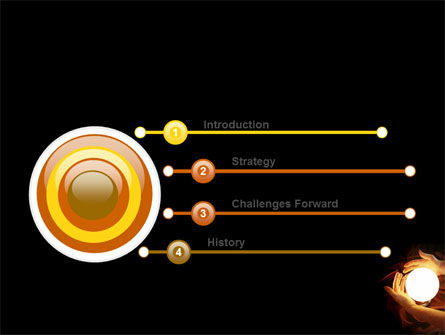 Glowing Sphere PowerPoint Template, Slide 3, 05703, Religious/Spiritual — PoweredTemplate.com