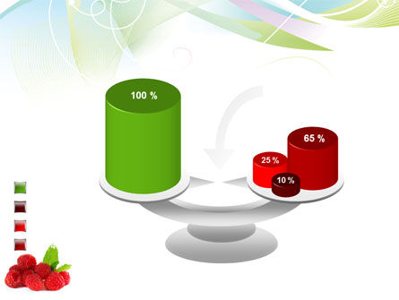 Raspberry With Green Leaf PowerPoint Template Slide 10