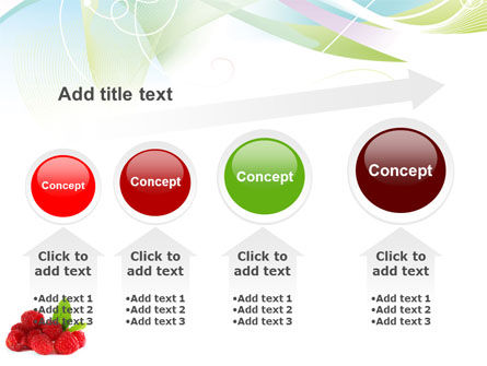 Raspberry With Green Leaf PowerPoint Template Slide 13