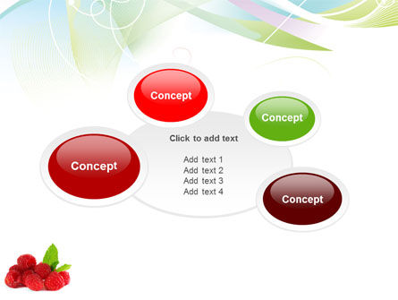 Raspberry With Green Leaf PowerPoint Template Slide 16