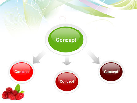 Raspberry With Green Leaf PowerPoint Template, Slide 4, 05705, Food & Beverage — PoweredTemplate.com