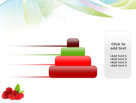 Raspberry With Green Leaf PowerPoint Template Slide 8
