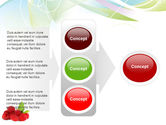 Raspberry With Green Leaf PowerPoint Template#11