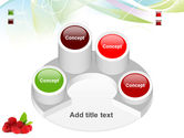 Raspberry With Green Leaf PowerPoint Template#12