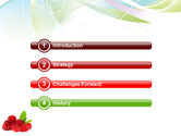 Raspberry With Green Leaf PowerPoint Template#3