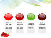 Raspberry With Green Leaf PowerPoint Template#5