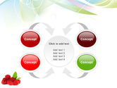 Raspberry With Green Leaf PowerPoint Template#6