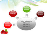 Raspberry With Green Leaf PowerPoint Template#7