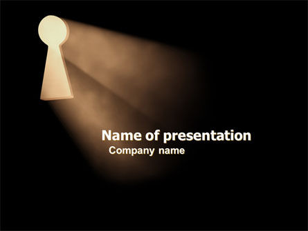 Keyhole In The Dark PowerPoint Template