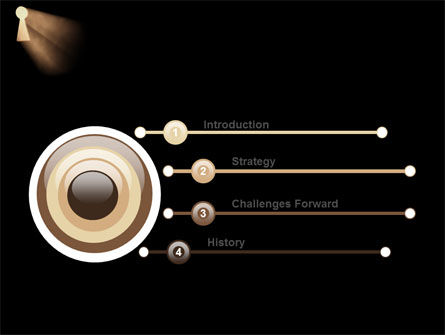 Keyhole In The Dark PowerPoint Template Slide 3