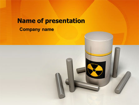 Nuclear Fuel PowerPoint Template, 05708, Military — PoweredTemplate.com
