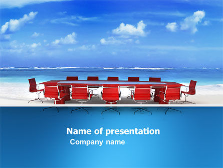 Conference Meeting PowerPoint Template, 05709, Business Concepts — PoweredTemplate.com