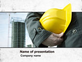 Construction: Builder PowerPoint Template #05710