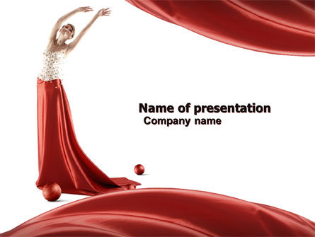 Art & Entertainment: Red Elegantie PowerPoint Template #05711