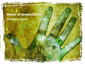 Careers/Industry: Hand Chakra PowerPoint Template #05712