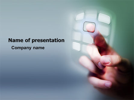 Technology and Science: Dialing PowerPoint Template #05713
