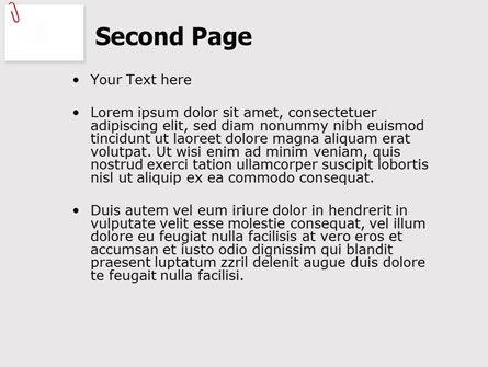 Paperclip PowerPoint Template, Slide 2, 05715, Business — PoweredTemplate.com