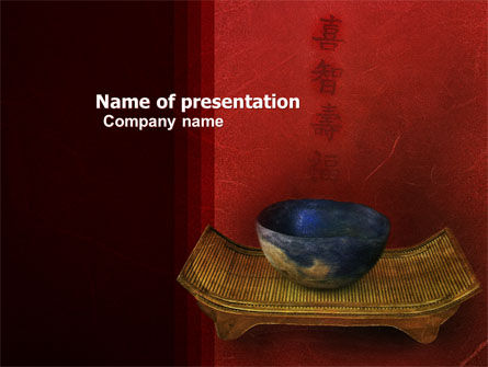 Art & Entertainment: Chinese Bowl PowerPoint Template #05716