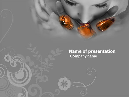 Health and Recreation: Beauty Salon PowerPoint Template #05718