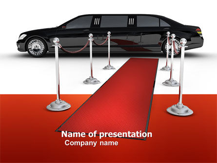 Limousine PowerPoint Template, 05720, Art & Entertainment — PoweredTemplate.com