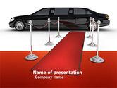 Art & Entertainment: Limousine PowerPoint Template #05720