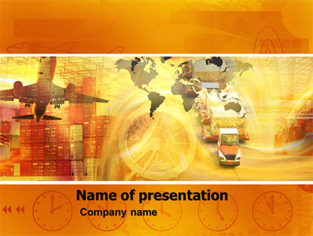 Cars and Transportation: Transworld Logistics PowerPoint Template #05722