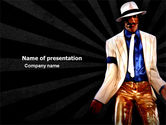 People: King of Pop Free PowerPoint Template #05724