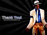 King of Pop Free PowerPoint Template#20