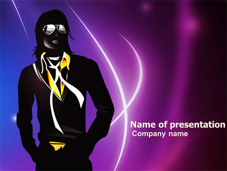 Art & Entertainment: Michael Jackson Free PowerPoint Template #05725