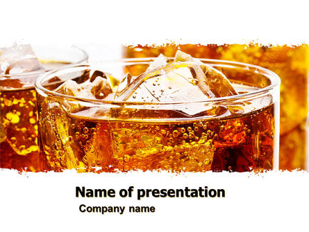 Food & Beverage: Soda With Ice PowerPoint Template #05726