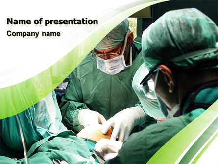 Medical: Anesthesia In Surgery PowerPoint Template #05727