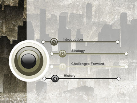 Dark City PowerPoint Template Slide 3