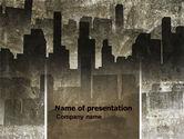 Construction: Dark City PowerPoint Template #05728