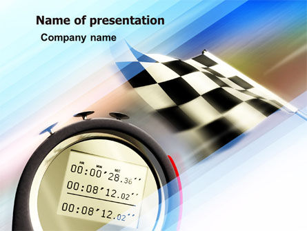 Stopwatch PowerPoint Template, 05729, Sports — PoweredTemplate.com