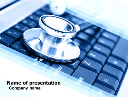Technology and Science: Medical Records In Electronic Form PowerPoint Template #05733