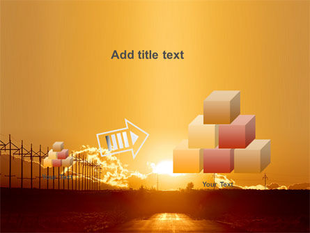 Sunset Road PowerPoint Template Slide 13
