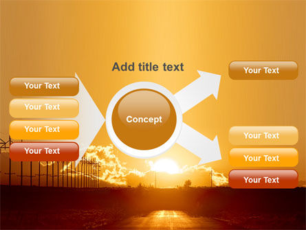 Sunset Road PowerPoint Template Slide 15