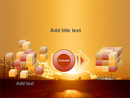 Sunset Road PowerPoint Template Slide 17