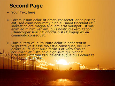 Sunset Road PowerPoint Template Slide 2