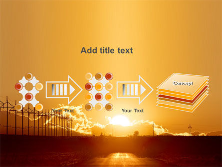 Sunset Road PowerPoint Template Slide 9