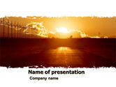 Business Concepts: Sunset Road PowerPoint Template #05735