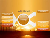 Sunset Road PowerPoint Template#15