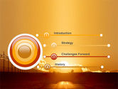 Sunset Road PowerPoint Template#3