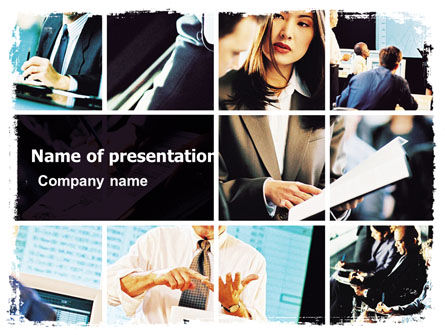 Business Training PowerPoint Template, 05736, Business — PoweredTemplate.com