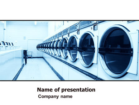 Laundry PowerPoint Template, 05737, Careers/Industry — PoweredTemplate.com