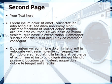 Laundry PowerPoint Template, Slide 2, 05737, Careers/Industry — PoweredTemplate.com