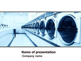 Careers/Industry: Laundry PowerPoint Template #05737