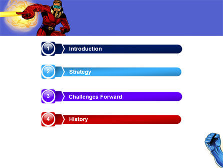 Superheroes PowerPoint Template, Slide 3, 05738, Art & Entertainment — PoweredTemplate.com