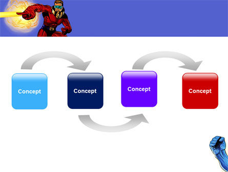 Superheroes PowerPoint Template, Slide 4, 05738, Art & Entertainment — PoweredTemplate.com